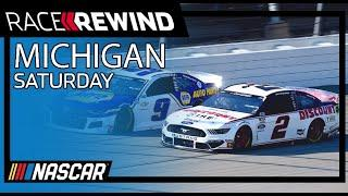 Harvick holds off Keselowski and Busch | Race Rewind from Michigan | Saturday | NASCAR Cup Series