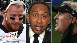 Stephen A. deflects blame from Carson Wentz: 'You have to look at' Doug Pederson! | First Take