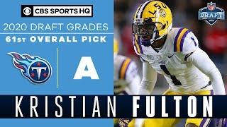 The Titans select an OUTSTANDING ATHLETE in Kristian Fulton with the 61st pick   2020 NFL Draft