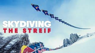 The World's Hardest Downhill Ski Slope Seen From The Air | w/ Red Bull Skydive Team