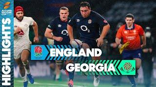 England 40-0 Georgia   Jamie George Makes History With Hat-Trick   Autumn Nations Cup Highlights
