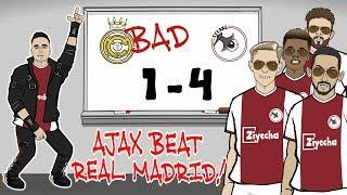 Ajax beat Madrid! REAL ARE BAD! Ajax win 4-1 (Champions League Parody Goals Highlights Tadic)