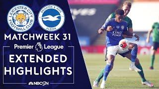 Leicester City v. Brighton | PREMIER LEAGUE HIGHLIGHTS | 6/23/2020 | NBC Sports