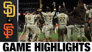 Trent Grisham hits walk-off homer in Padres' 6-5 win   Padres-Giants Game 2 Highlights 9/25/20