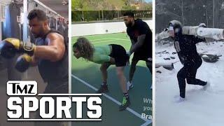 Athletes In Quarantine: Crazy Trick Shots and Training Routines! | TMZ Sports