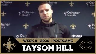 Taysom Hill on TD Catch from Brees   Saints-Bears Postgame   2020 Week 8