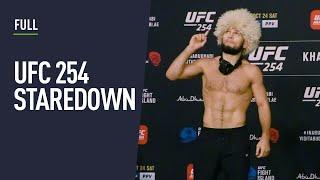 FULL: Khabib, Gaethje and fighters face off after UFC 254 weigh-ins