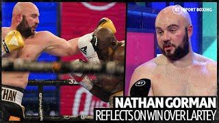 """""""I need to lose weight and get back out in December!"""" Nathan Gorman reacts to Richard Lartey win"""