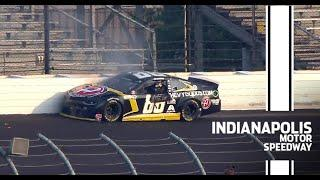 Bowman makes heavy contact with the wall late at Indy | NASCAR
