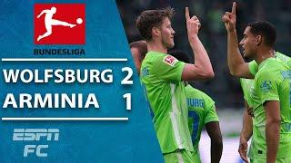 Wolfsburg grab first win of the season vs. Arminia Bielefeld | ESPN FC Bundesliga Highlights