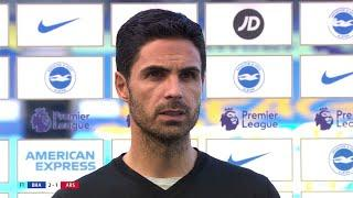 Mikel Arteta reacts to Arsenal's last-gasp defeat at Brighton