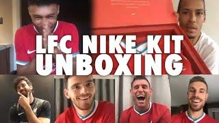 LFC's new Nike kit unboxing with Van Dijk, Ox and the lads | 'It's absolutely FIRE'