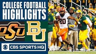 #22 Oklahoma State vs Baylor Highlights: Stoner 3 TD catches for Cowboys | CBS Sports HQ