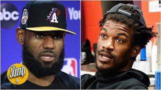 The Jump reacts to Jimmy Butler's 'you're in trouble' trash talk to LeBron James and the Lakers