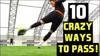10 Crazy Ways To Pass A Football!   F2Freestylers