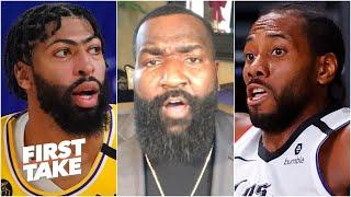 Kawhi & PG at their best can't match LeBron & AD at their best - Kendrick Perkins | First Take
