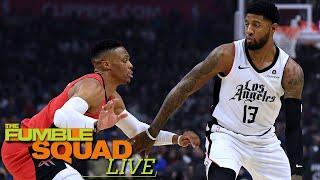Clippers Looking To Send Paul George To Houston For Russell Westbrook? | Fumble Live!