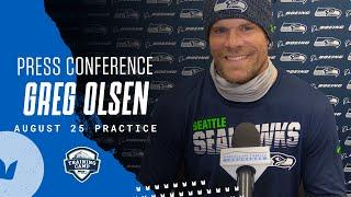 Greg Olsen 2020 Training Camp August 25th Practice Press Conference