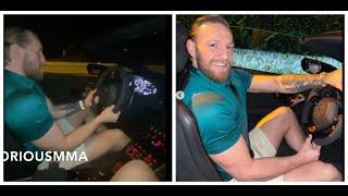 HOW FAST IS THAT? -CONOR McGREGOR RACES & SHOWS OFF STUNNING SPEED IN THE  LAMBORGHINI 63 TECNOMAR -