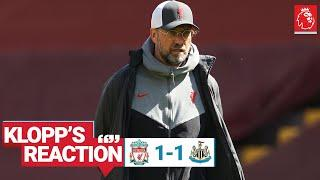 Klopp's Reaction: 'We created enough to win the game'  | Liverpool vs Newcastle