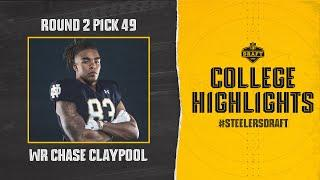 Steelers second-round pick WR Chase Claypool's Notre Dame Highlights | Pittsburgh Steelers