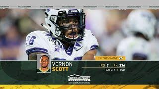 New Packers S Vernon Scott says draft process 'was a journey' for him