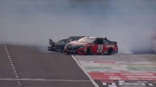 Erik Jones and Tyler Reddick draw a caution after mid-race wreck | NASCAR Cup Series at Pocono