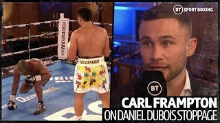 """""""I'd get dragged out, I wouldn't take a knee!"""" Carl Frampton brutally honest on Daniel Dubois"""