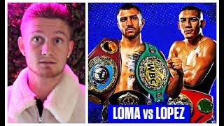 'LOPEZ HAS TO MAKE IT A DOG FIGHT - BUT I THINK LOMACHENKO WILL PICK HIM APART' - ARCHIE SHARP
