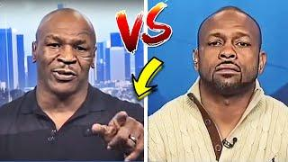*WOW* MIKE TYSON vs ROY JONES JR BEST TRASH TALK DURING INTERVIEW & PRESS CONFERENCE ~LOSES CONTROL~