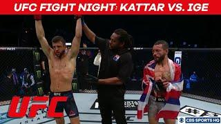 UFC Fight Night Highlights: Calvin Kattar outpoints Dan Ige in featherweight fight | CBS Sports HQ