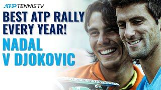 Rafa Nadal vs Novak Djokovic: Best ATP Rally Every Year They've Played!