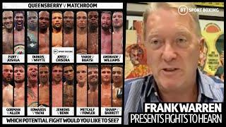 Dubois v Whyte? Fury v AJ? Frank Warren presents amazing Queensberry v Matchroom card to Eddie Hearn