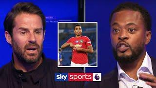 Patrice Evra warns Jamie Redknapp after commenting on Mason Greenwood's best position