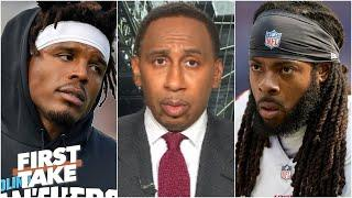 Stephen A. reacts to Richard Sherman calling the size of Cam Newton's contract 'disgusting'