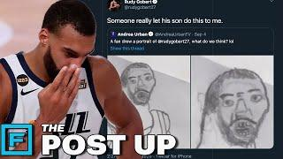 Rudy Gobert Trashes Fan's UGLY Artwork That Looks NOTHING Like Him | The Post Up