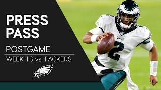 Jalen Hurts & Jalen Mills React to Eagles' Loss to Packers | Eagles Press Pass