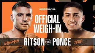 Lewis Ritson vs Jeremias Ponce plus undercard weigh-in