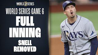 Full Bottom 6th of World Series Game 6! (Kevin Cash removes Blake Snell, Dodgers take lead)