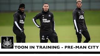 TOON IN TRAINING | Newcastle United prepare for Man City