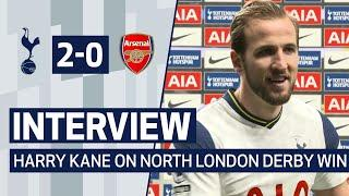 INTERVIEW | HARRY KANE ON NORTH LONDON DERBY WIN | Spurs 2-0 Arsenal