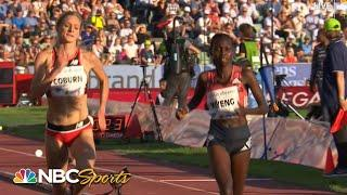 Emma Coburn discovers hurdle problem, then rallies to crazy finish at 2018 Oslo steeplechase