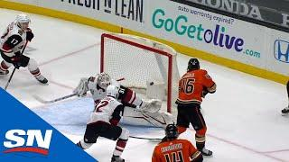 Trevor Zegras Pulls Off Incredible Move For First NHL Goal
