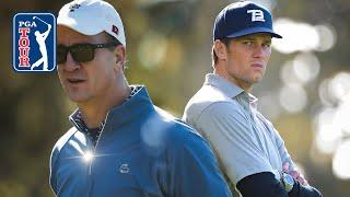 Best Tom Brady and Peyton Manning golf highlights