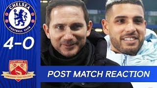 Frank Lampard & Emerson Palmieri React To victory against Morecambe | Chelsea 4-0 Morecambe