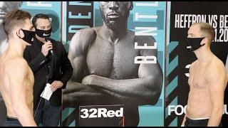 HENRY TURNER v DES NEWTON - (FULL & OFFICIAL) WEIGH-IN AHEAD OF FRANK WARREN CARD LIVE ON BT SPORT
