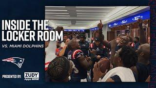 Patriots Celebrate Win Over Dolphins | Inside the Locker Room