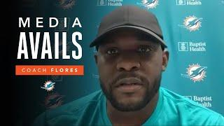 Coach Flores discusses preparations for Week 13 vs. CIN | Miami Dolphins Media Avails