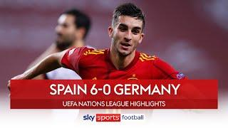 Torres scores hat-trick as Spain THRASH Germany! | Spain 6-0 Germany | Nations League Highlights