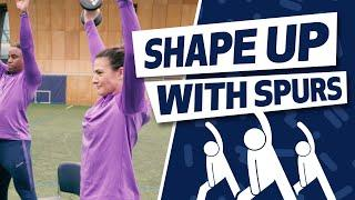 RESISTANCE HOME WORKOUT TUTORIAL | SHAPE UP WITH SPURS